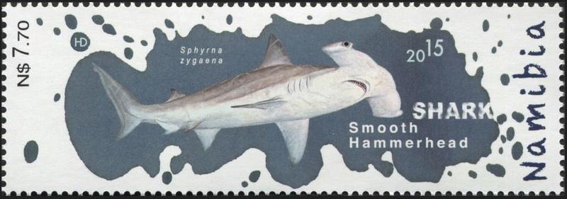 Haie auf Briefmarke Hai410