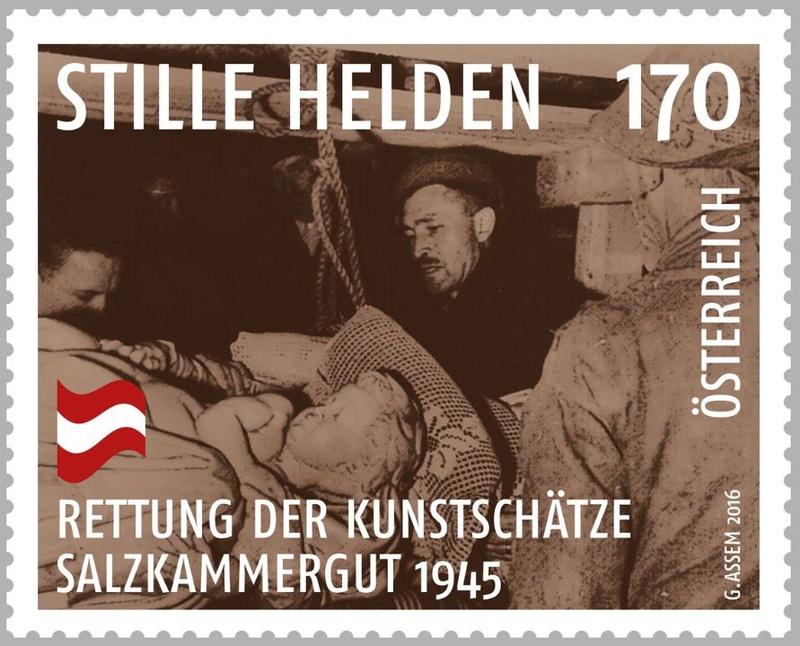 """1945 - Sondermarke """"Stille Helden - Rettung der Kunstschätze, Salzkammergut 1945"""" Helden10"""