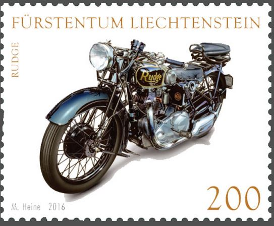 Liechtenstein - Liechtenstein 2016 - Ausgabetag 5. September Motorr13