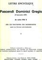 PASCENDI ou la condamnation du Modernisme. (S. Pie X) (COMPLET avec Table des Matières) Pascen10