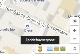 #PrideForEveryone ou quant Google donne accès à la Gay Pride à tous... (Modification temporaire de Google Maps) Paris_10