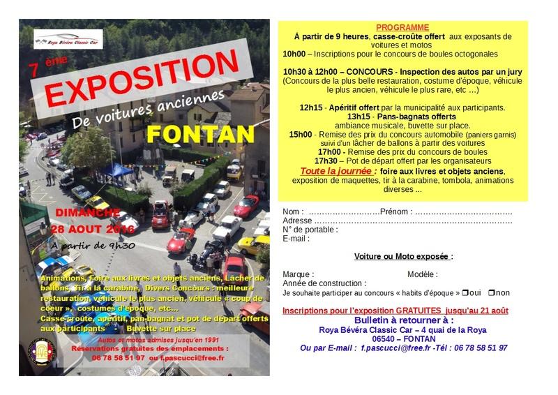 Expo autos anciennes ... C'est à Fontan le 28 août ! Affich10