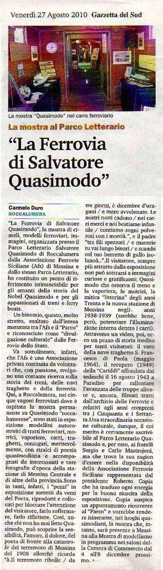 7 e 8 agosto 2010 - Parco Letterario Salvatore Quasimodo, Roccalumera  (Messina) - Pagina 2 Artico18