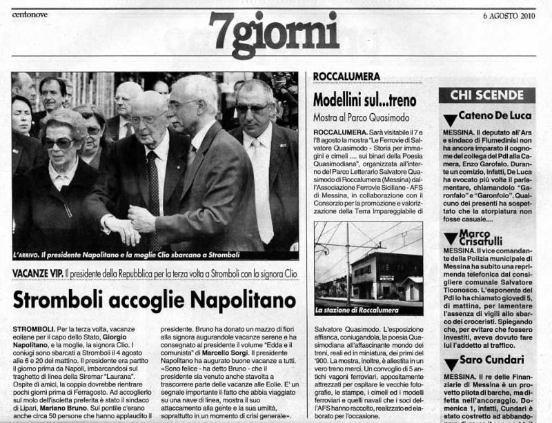 7 e 8 agosto 2010 - Parco Letterario Salvatore Quasimodo, Roccalumera  (Messina) - Pagina 2 Centon10