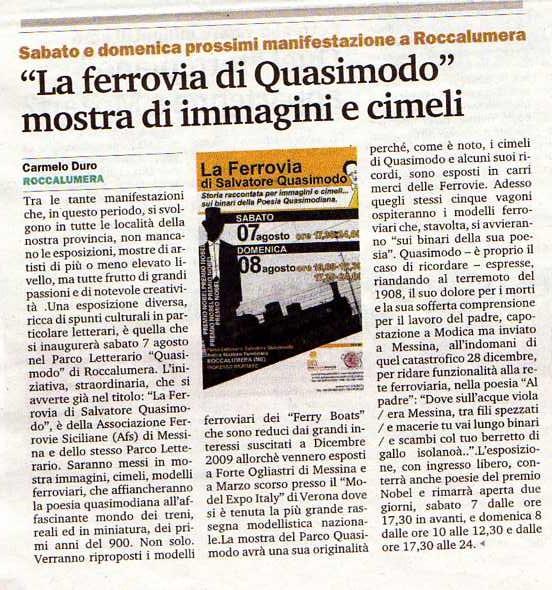 7 e 8 agosto 2010 - Parco Letterario Salvatore Quasimodo, Roccalumera  (Messina) - Pagina 2 Gazzet10