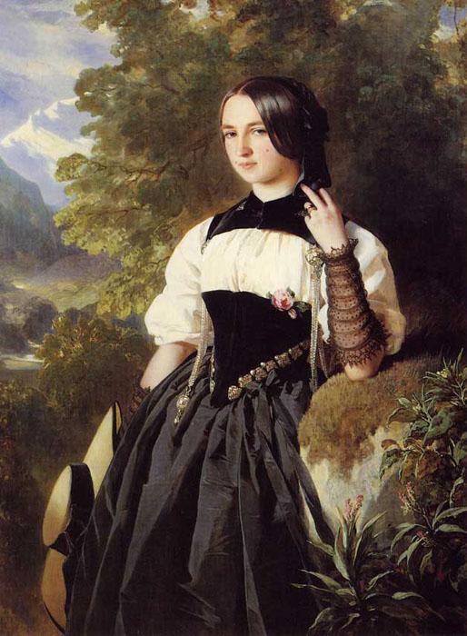 Tentative de retrouver un tableau d'après un portrait de femme renaissance Franz212