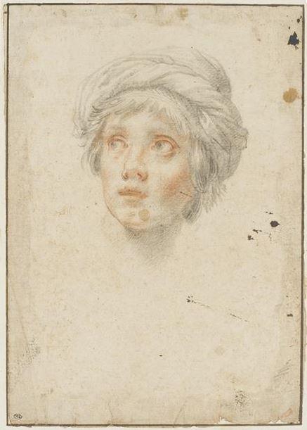 Tentative de retrouver un tableau d'après un dessin de femme au turban Lorenz10