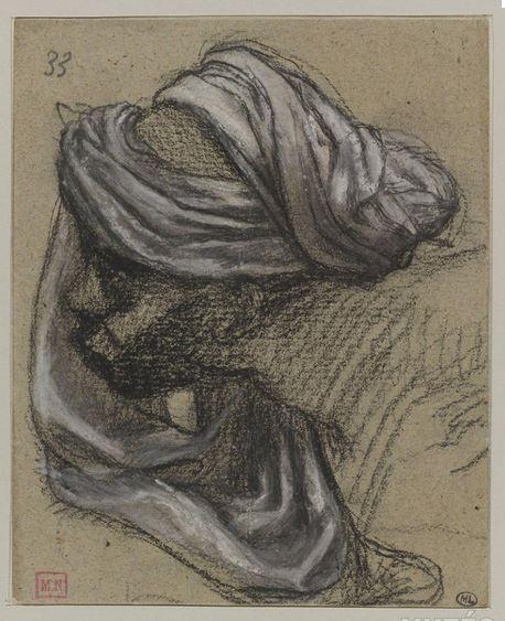 Tentative de retrouver un tableau d'après un dessin de femme au turban Puvis_10