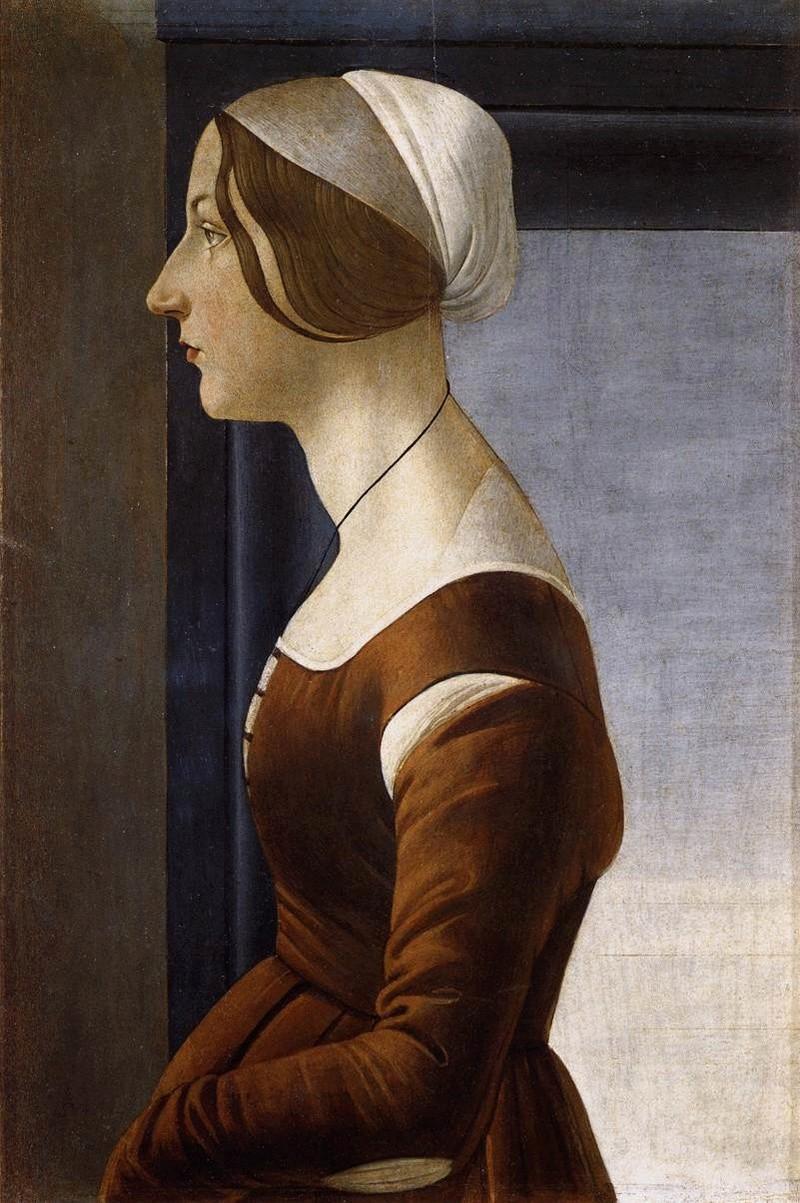 Tentative de retrouver un tableau d'après un dessin de femme au turban Sandro10