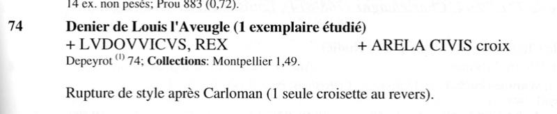 Très rare obole de Louis L'Aveugle, Roi de Provence ... Depeyr10