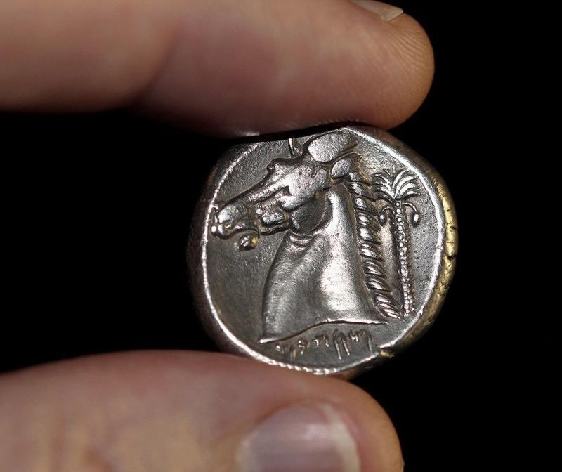 Tetradracma sículo-púnico acuñado en Entella (320-300 a.C.) 211