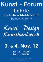 Kunst-Forum Lehrte / Ausstellung am 03.+04.11.2012 Kunstf10