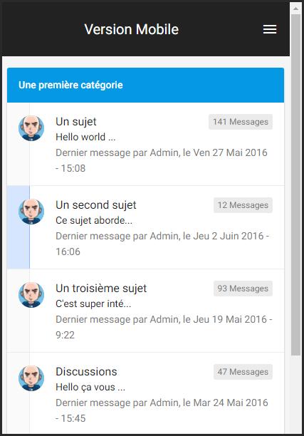 [LE SITE] la version mobile du forum évolue Versio10