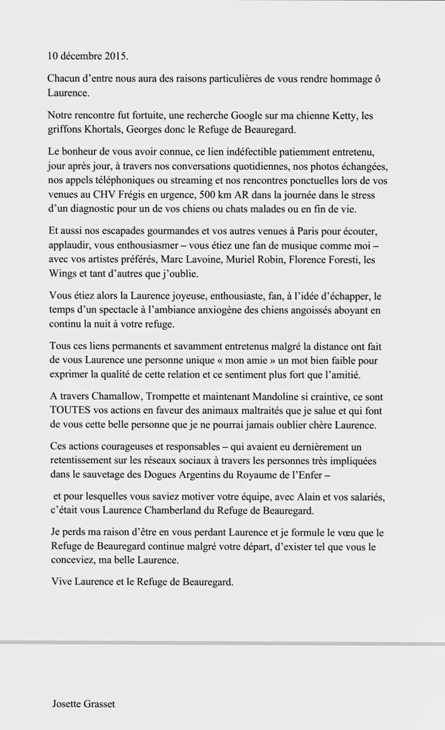 Laurence de Beauregard,  un an déjà...  - Page 3 20160810