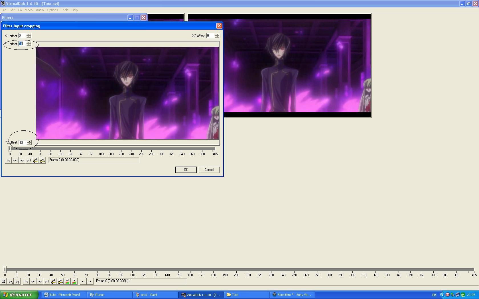 Tuto :Découp.des scènes/Config.Prjct/Export/Bande noir/Encode 1511