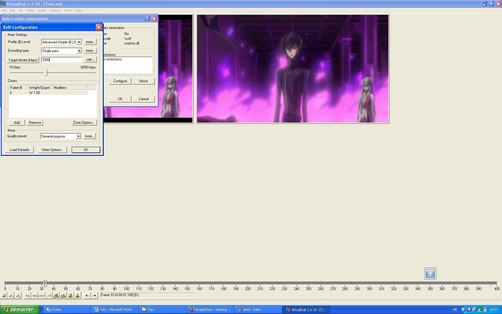 Tuto :Découp.des scènes/Config.Prjct/Export/Bande noir/Encode 2011