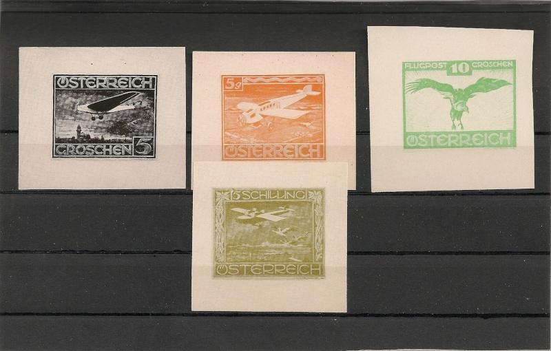 Probedrucke/Entwürfe (?) Flugpostmarken Österreich Scanne10