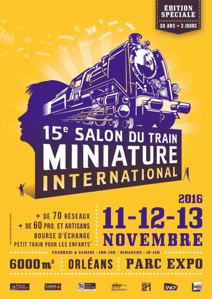 Orléans - 15 Salon du train  Miniature - 11/12/13 Novembre 2016 Affich10