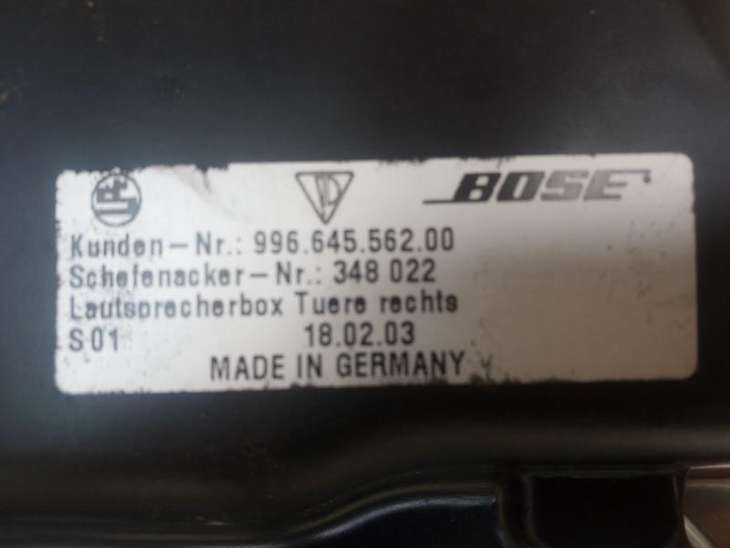Bose hp de portiere Porsche 996 boxster Img_2011