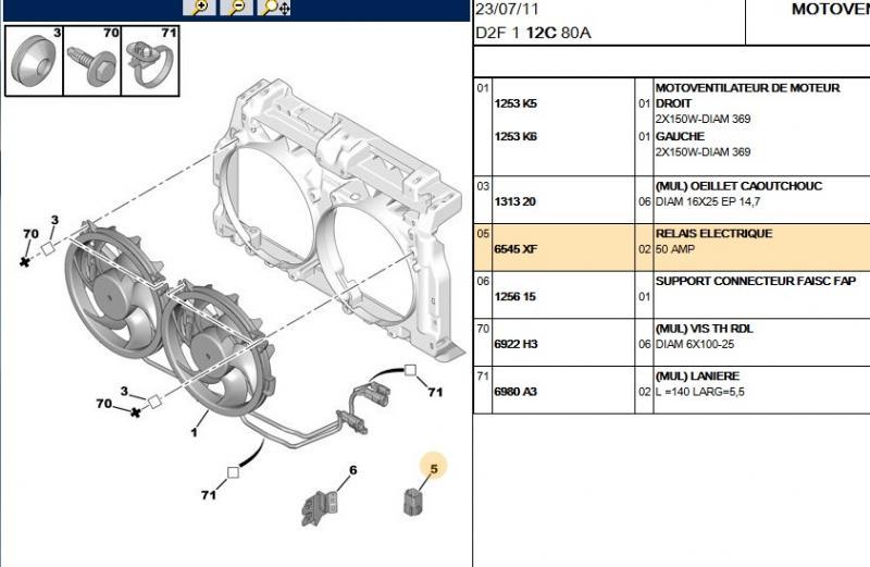 Moto-ventilateurs qui ne tournent qu'en petite vitesse Motove10