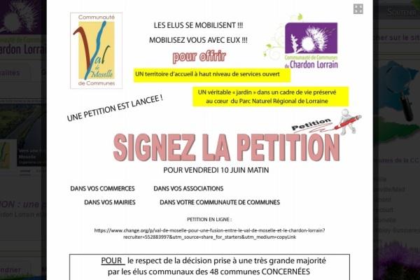 Les Communautés de Communes du Chardon Lorrain et du Val de Moselle veulent fusionner Fusion10