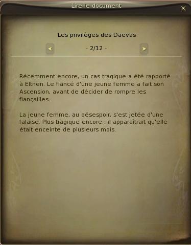 [Prohibé] Les privilèges des Daevas A210