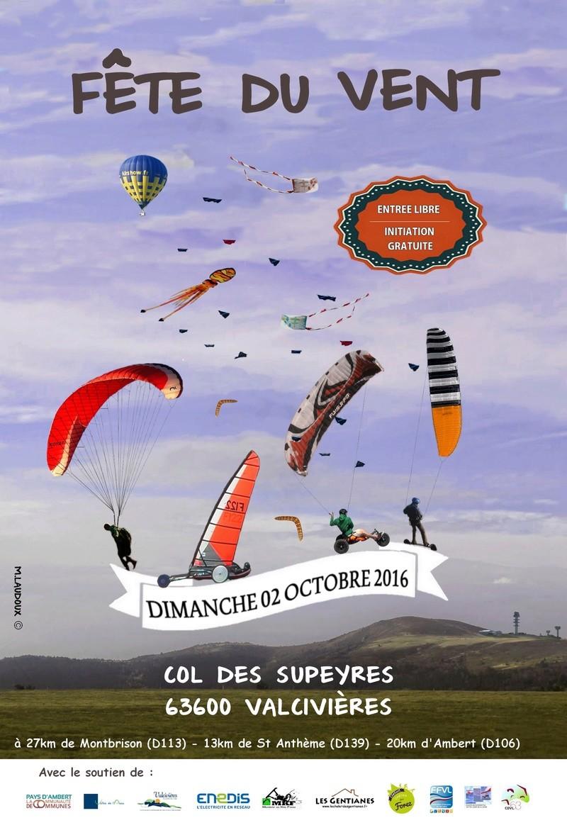 2016 / Fete du vent à Valcivieres  / Dimanche 2 Octobre Affich10