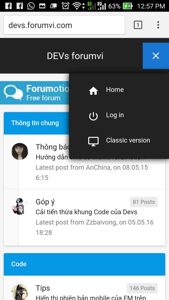 [Hỏi đáp] Mất menu truy cập nhanh ở giao diện mobile mới 14673511