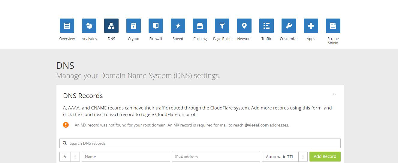 [Forumotion] Hướng dẫn trỏ tên miền cấp 1 về Forumotion từ CloudFlare Hynh111
