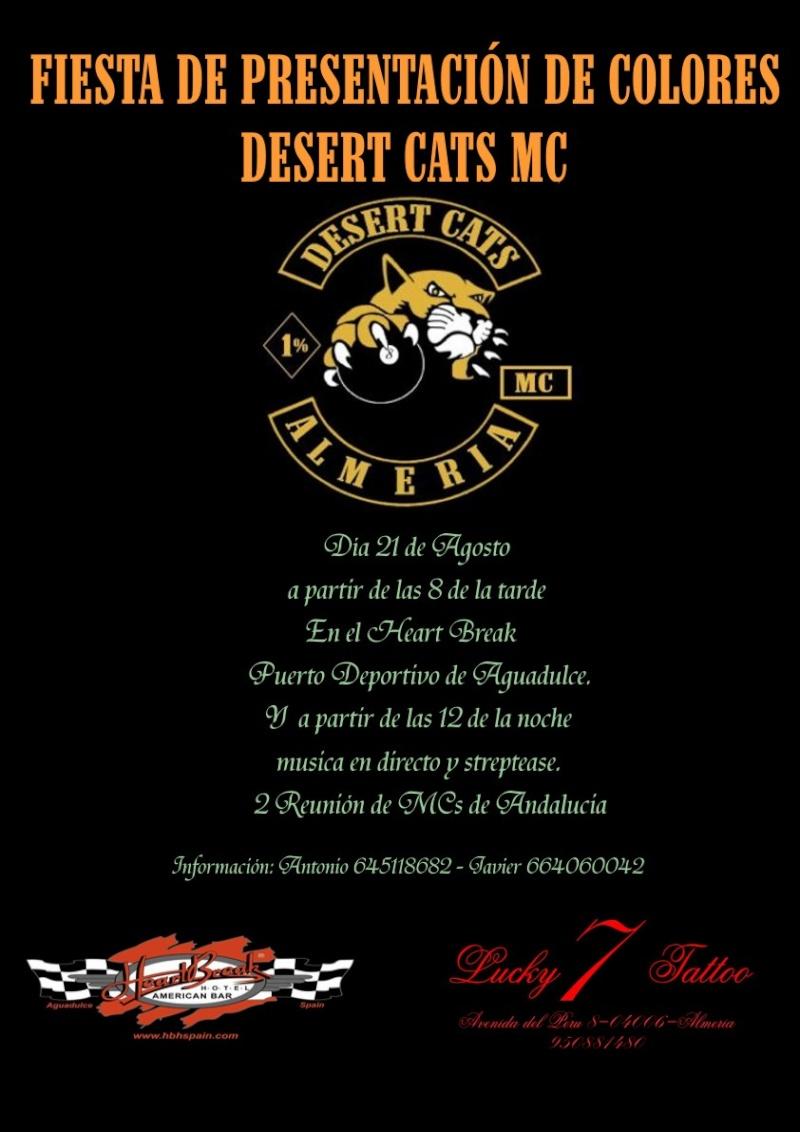 FIESTA DE PRESENTACIÓN DE COLORES DESERT CATS MC Fiesta10