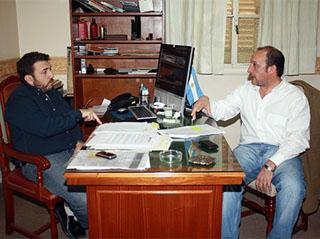 Escobar: Luis Vivona respaldó la gestión comunal en deporte social. 001109
