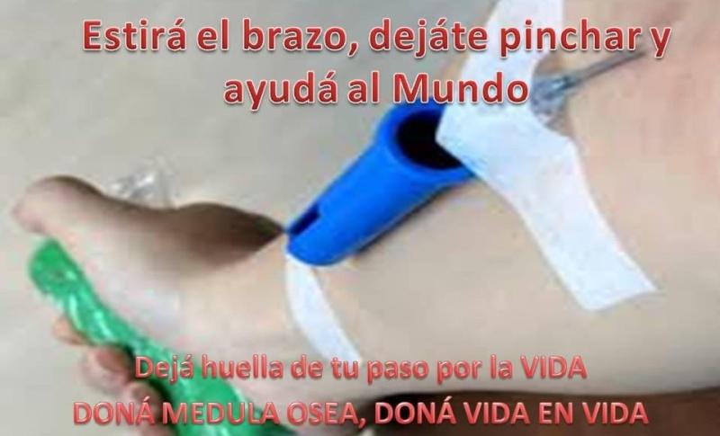 Malvinas Argentinas: Hacete donante de médula osea 00244