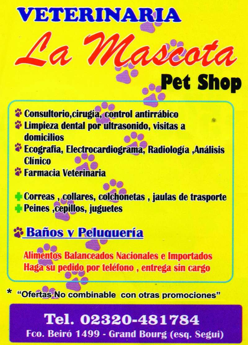 bourg - En Grand Bourg, veterinaria La Mascota. Aviso_31