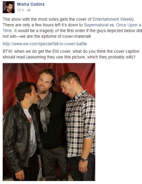 EW Fall TV Cover Battle [MAJ 06/09 : SPN a gagné !] - Page 2 Misha12