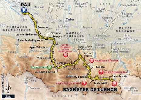 LE TOUR 2016 -- CLTS COMPLETS ETAPE PAR ETAPE 8carte10