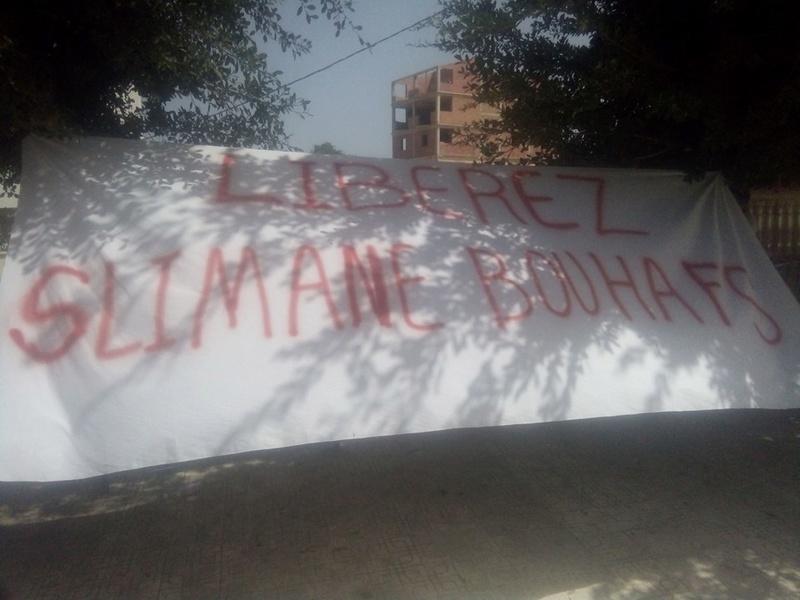 Rassemblement pour exiger la libération immédiate de Slimane Bouhafs à Aokas  180