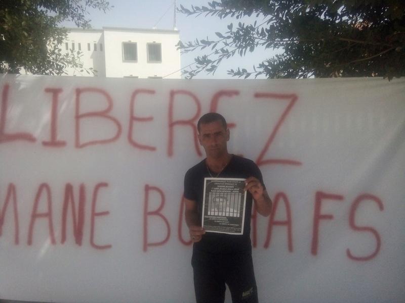Rassemblement pour exiger la libération immédiate de Slimane Bouhafs à Aokas  181