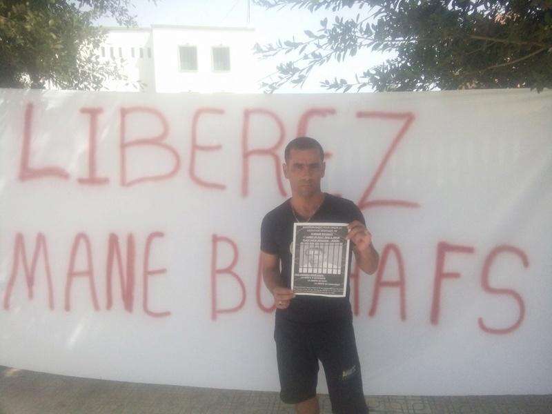 Rassemblement pour exiger la libération immédiate de Slimane Bouhafs à Aokas  182