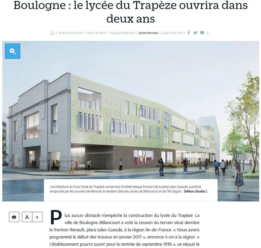 Informations sur le lycée du trapèze Clipb135