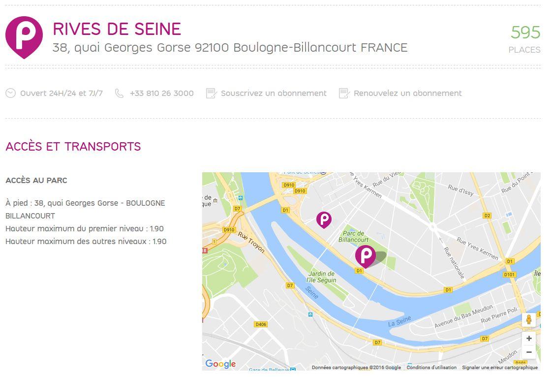 Parkings quartier Seguin Rives de Seine Clipb247