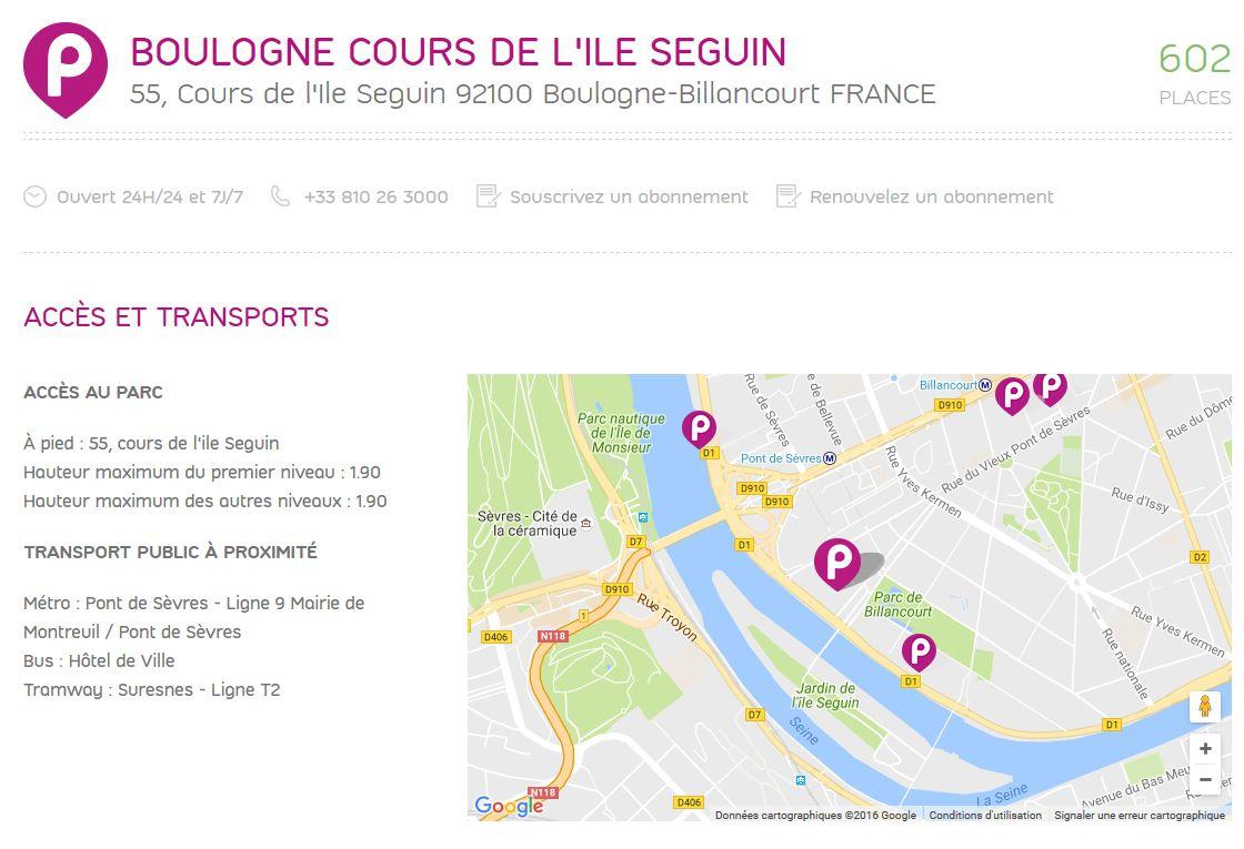 Parkings quartier Seguin Rives de Seine Clipb248
