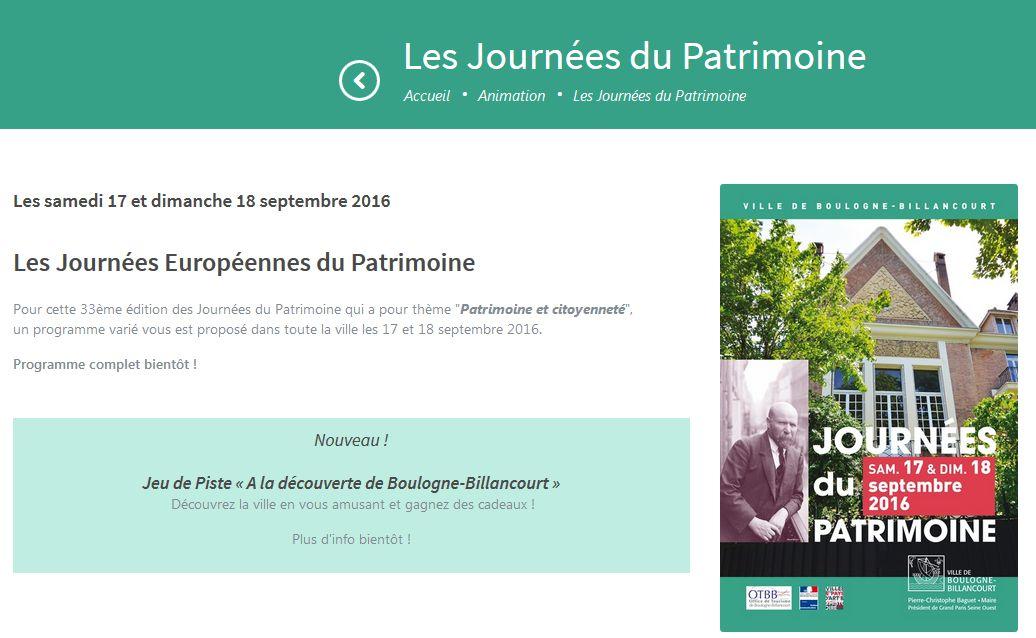 Journées du Patrimoine Clipb341