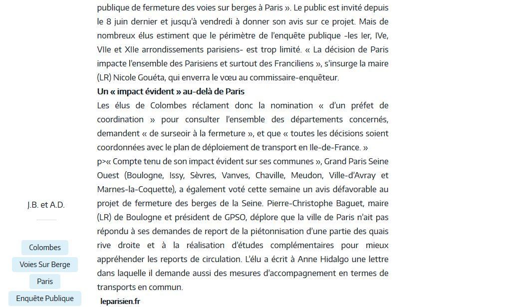 Aménagement et usages des voies sur berges à Paris Clipb342