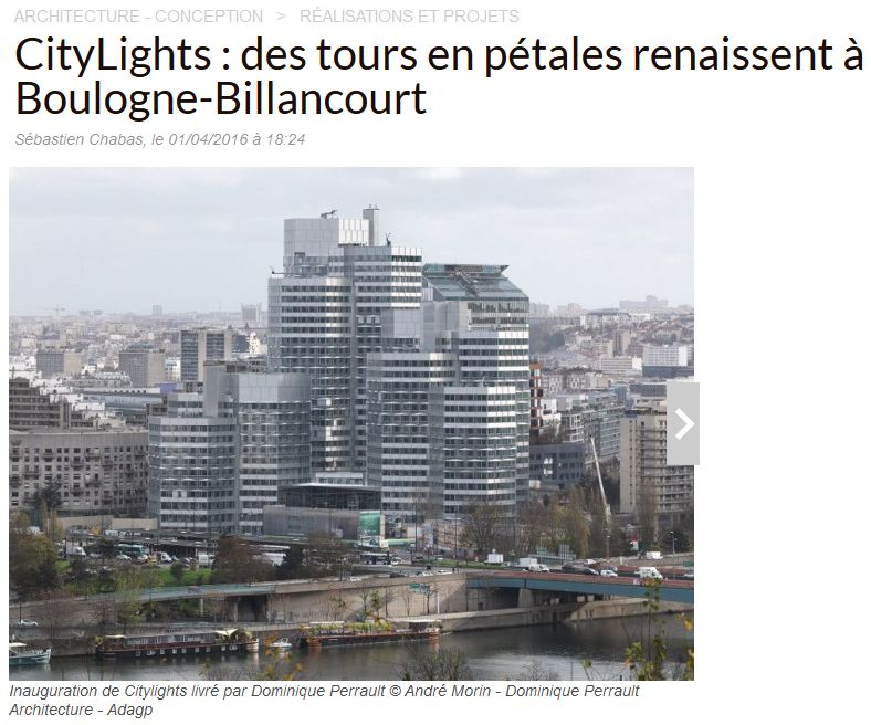 Immeuble Citylights (tours) Clipb347