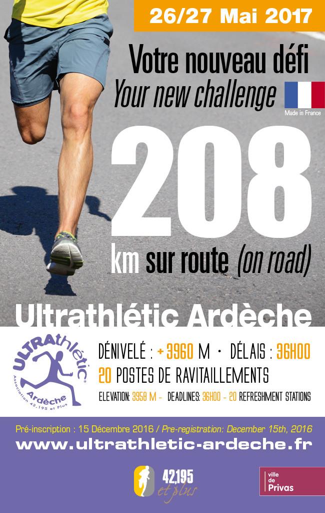 Ultrathlétic Ardèche, 205,5 km sur route: 25-26 mai 2017 Ultrat10