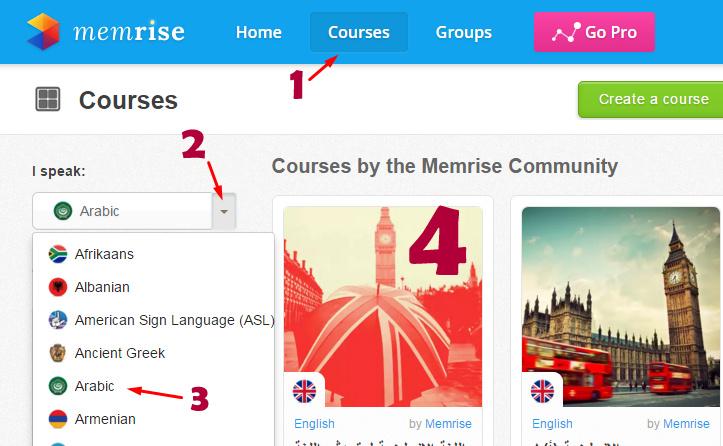 تعلم العديد من اللغات عن طريق موقع Memrise Screen10