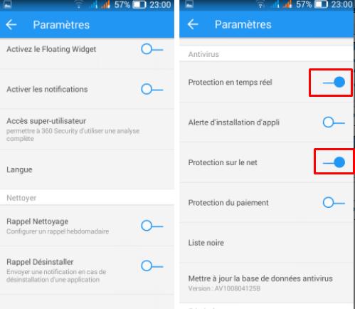 تطبيق لحماية الهاتف وتسريعه ووضع كلمة سرية لأي تطبيق 360 security Screen42