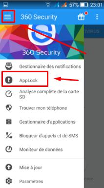 تطبيق لحماية الهاتف وتسريعه ووضع كلمة سرية لأي تطبيق 360 security Screen43