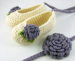 Hand made Crotchet shoes 02d0e910