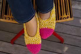 Hand made Crotchet shoes 0aeb2810